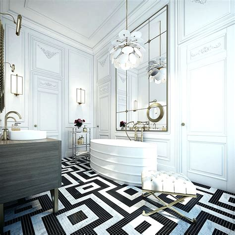 black and white bathroom tile design ideas creative tile flooring patterns hex black and white