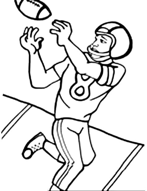 Free Coloring Pages Of American Football Football Player Color Pages