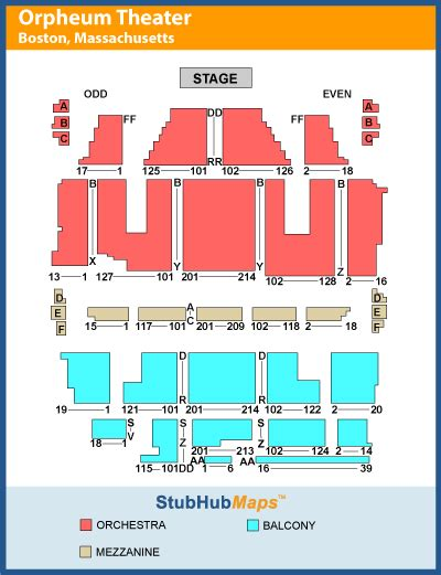 orpheum theatre boston seating plan orpheum seating chart boston brokeasshome