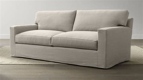 axis ii slipcovered 2 seat queen sleeper sofa with air