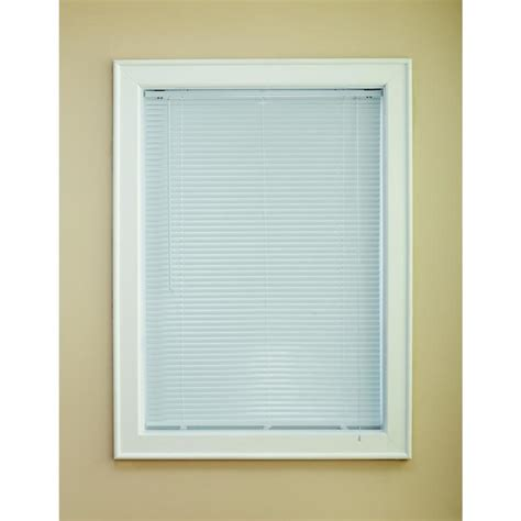 lowes levolor blinds shop custom size now by levolor 1 in white aluminum room darkening mini blinds common 72 in