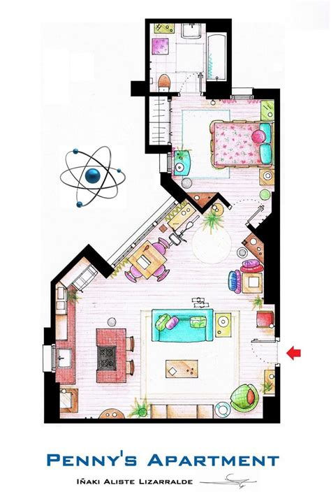tv show floor plans artsy architectural apartment floor plans from tv shows 9