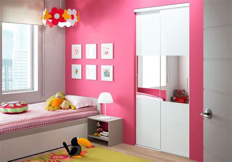 Exceptionnel Porte De Placard Chambre #1: chambre-fille_niche_placard-2-vantaux_modele-trio_decor-et-miroir.jpg