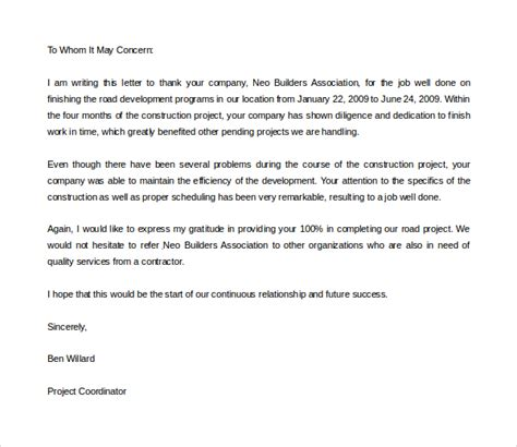 year end thank you letter to employees sle sle thank you letter to your employees 28 images year
