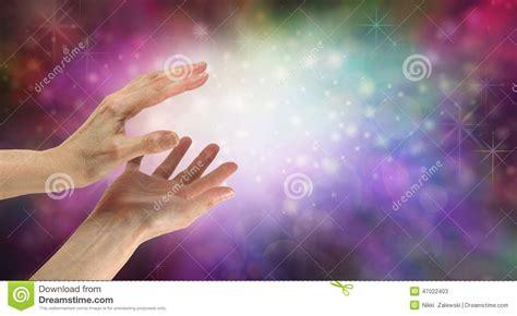 beautiful healing energy field stock photo image