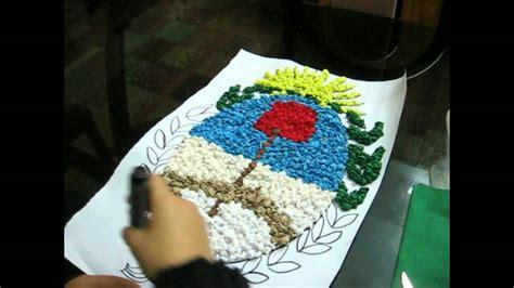 como hacer una decoracion de la cueva de batman en reciclaje escudo nacional argentino con papel crep 233 youtube