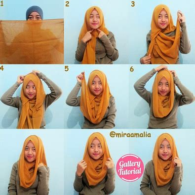 tutorial hijab joyagh outfit hijab ke pantai