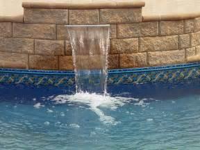 inground pool with waterfall inground swimming pool waterfall flickr photo sharing