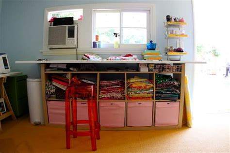 cutting table for sewing room the craft room redesign project diy sewing cutting tables pretty prudent