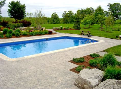 pool landscaping design swimming pool puslinch on photo gallery landscaping