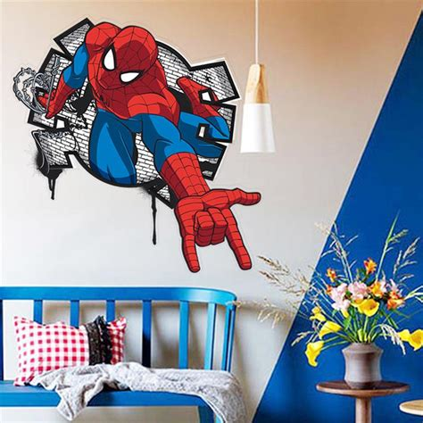 spiderman bedroom stickers popular spiderman wall decals buy cheap spiderman wall