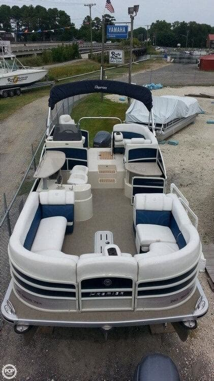 pontoon boats for sale used ontario 2014 used premier pontoons grand view 260 ptx pontoon boat
