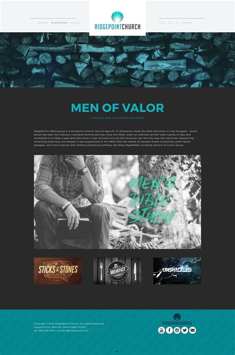 A Top Church Website Template Elevation Church Theme Ministry Website Templates