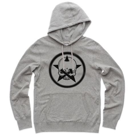 Hoodie Skull Grey pins and bones skull grey unisex pullover hoodie sweater