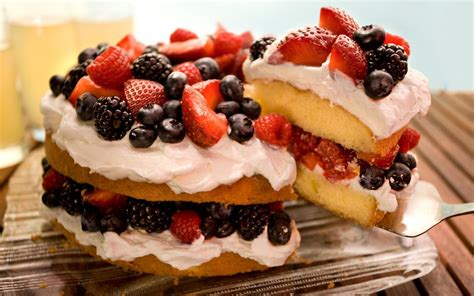 easy berry butter cake recipe chowhound