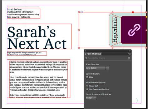 tutorial indesign digital publishing digital publishing with indesign cc scrollable frame