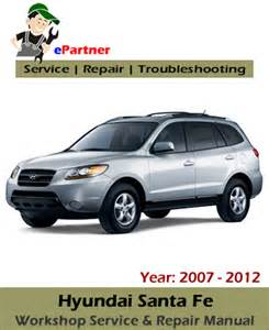 Hyundai Santa Fe Owners Manual Hyundai Santa Fe Service Repair Manual 2007 2012