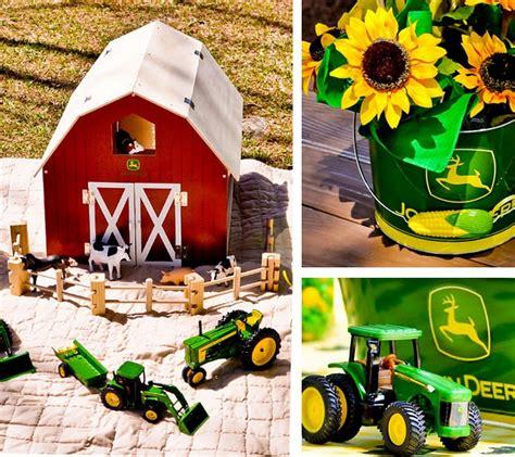 Deere Birthday Decorations by Deere Tractor Birthday Kara S Ideas