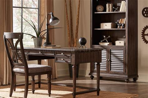 cardano desk bookcase    charcoal  homelegance