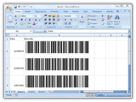 Excel Barcode Fonts Barcode Scanner Excel Template