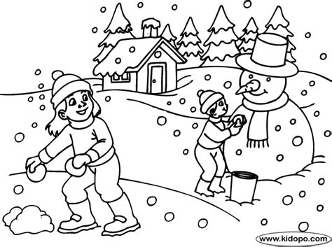 snow day coloring sheets kindergarten coloring pages