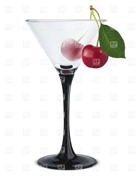 martini cherry martini glass with cherry royalty free vector clip art