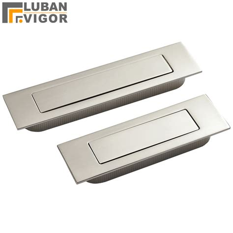 Automatic Cabinet Door Closer Brushed Stainless Steel Invisible Drawer Sliding Door Handle Automatic Closing