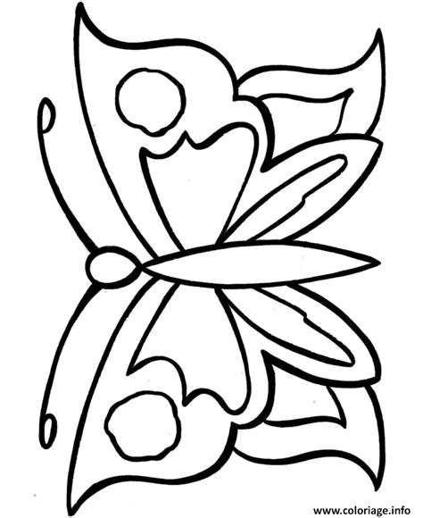 easy coloring pages for seniors coloriage papillon facile 44 dessin