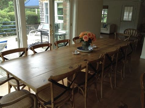 Large Farm Dining Room Tables Large Reclaimed Wood Table Farmhouse Dining Room