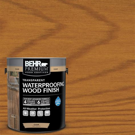 behr premium  gal   natural clear transparent