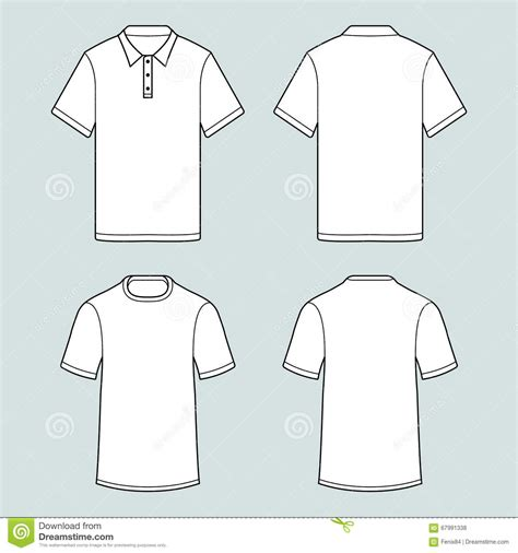 template of t shirts and polo shirt whith short sleeve