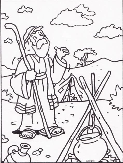 abraham and sarah with coloring pages