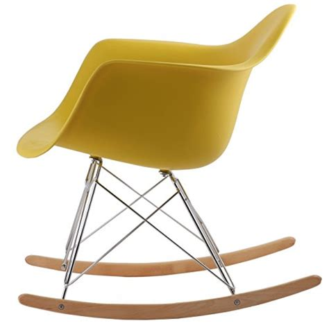 Armchair Rocking Chair by Hnnhome Eames Inspired Rar Lounge Retro Rocker Rocking