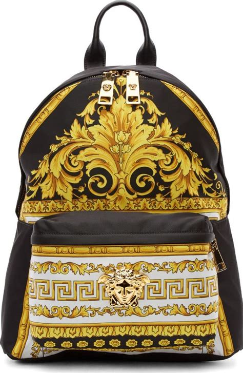 Measurement Luxury 3in1 Backpack iconic nwt versace signature palazzo backpack unisex for work travel ebay
