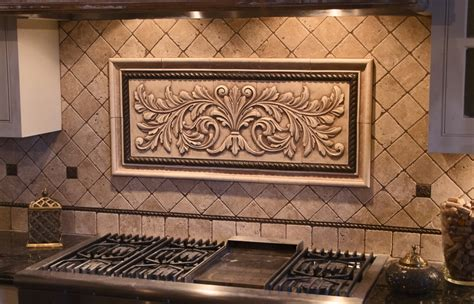 decorative tile inserts kitchen backsplash large pressed decorative tiles by andersen ceramics