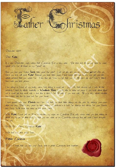 letters from father christmas search results for letter from father christmas template uk calendar 2015