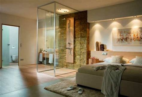 badezimmer im schlafzimmer 120 moderne designs glaswand dusche archzine net