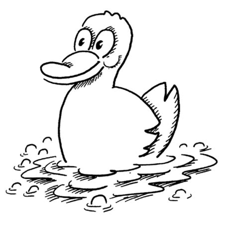 cute duck coloring pages sketch coloring page