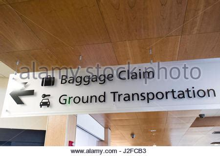 airport baggage claim sign  ground transport garage
