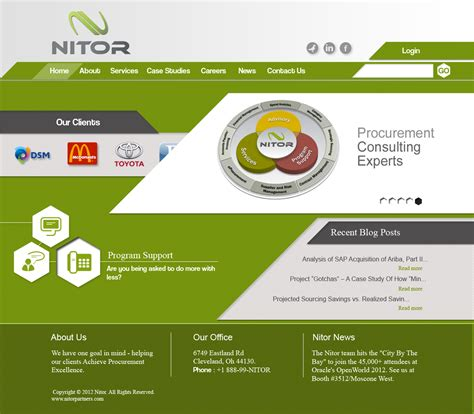 design pattern for web page web page design contests 187 nitor partners web page design
