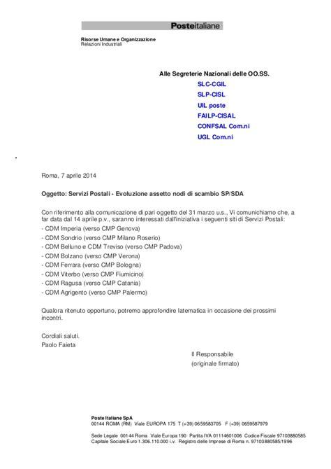 poste italiane spa sede legale riassetto cdm
