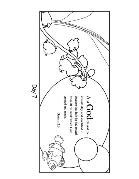 7 days of creation coloring pages coloring home