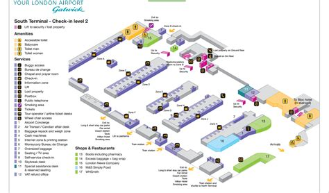 gatwick airport floor plan london gatwick airport map images