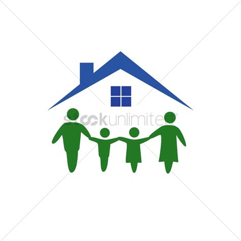 haus logo family house logo vector image 1270196 stockunlimited