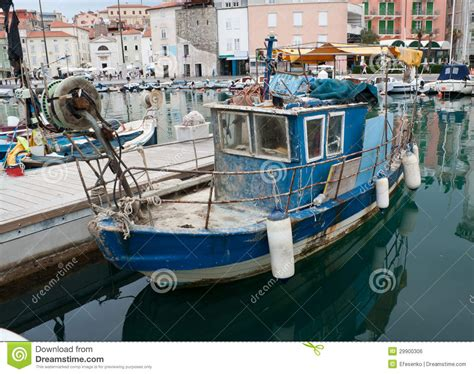 dog on boat to europe the old fishing boat royalty free stock image image
