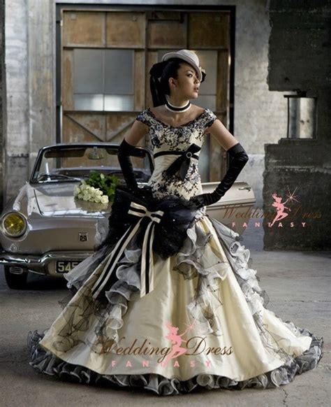 creative steampunk wedding dresses   unique  fun