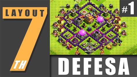 layout cv 7 defesa layout cv 7 defesa 1 town hall level 7 defense 1