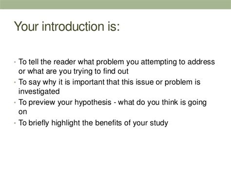 Literature Review How To Write Introduction by Introduction And Literature Review