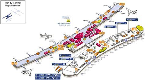 cdg map cdg airport terminal 2e map map of cdg airport terminal