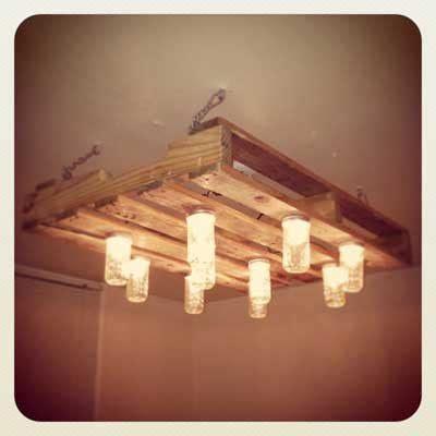 Pallet Mason Jar Chandelier Ideas Para Fabricar Muebles De Pal 233 S De Madera Para La